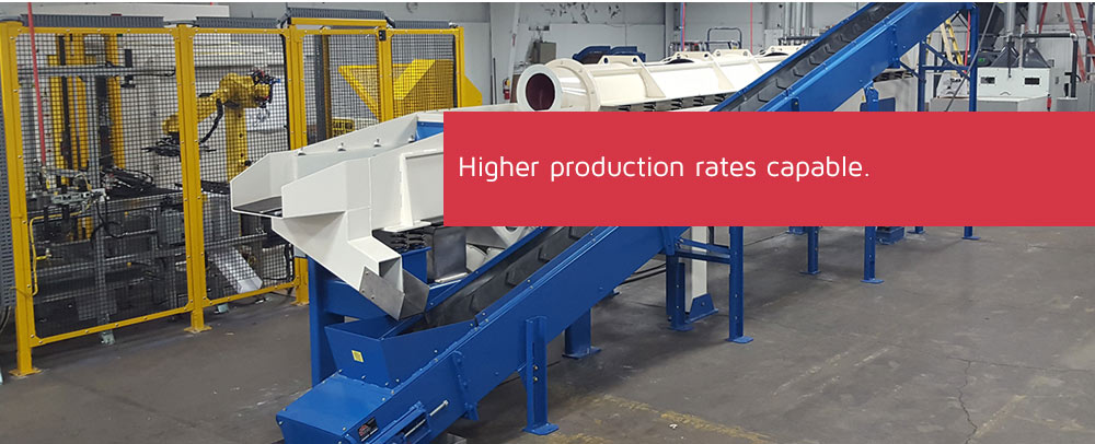 Higher production rates capable.