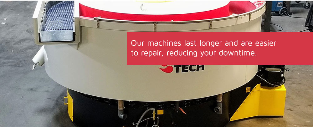 Our machines last longer and are easier to repair, reducing your downtime.