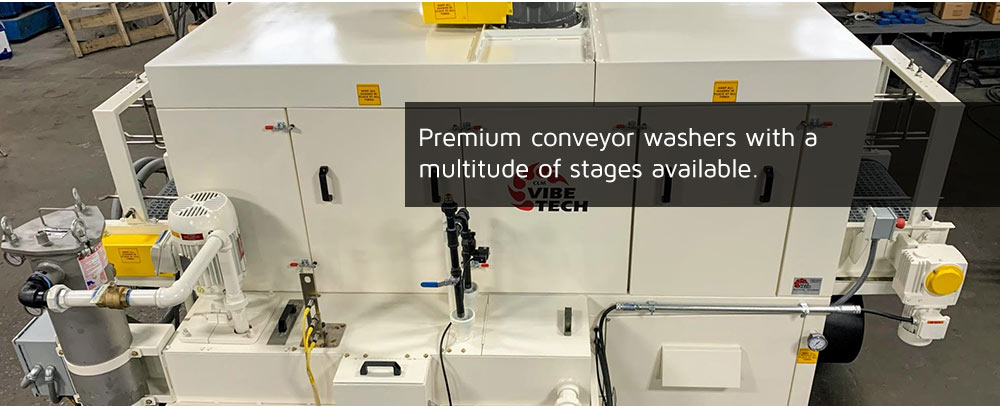 Premium conveyor washers with a multitude of stages available.